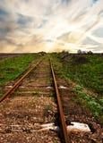 Alte rostige Schienen Lizenzfreie Stockfotografie