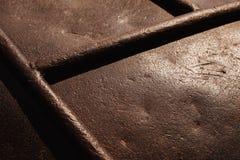 Alte rostige Stahloberfläche Flacher DOF stockfotografie