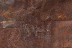 Alte rostige zerknitterte Blechtafelbeschaffenheit Stockbild