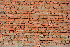 Alte rote Backsteinmauer Stockfotos