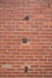 Alte rote Backsteinmauer Lizenzfreie Stockfotos
