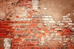 Alte rote Backsteinmauer Lizenzfreies Stockbild