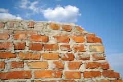 Alte rote Backsteinmauer Lizenzfreies Stockfoto