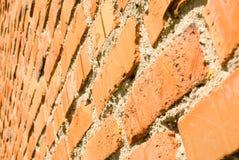 Alte rote Backsteinmauerbeschaffenheit Stockbilder