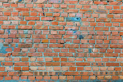Alte rote Backsteinmauerbeschaffenheit Lizenzfreies Stockfoto