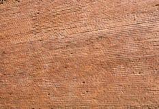 Alte rote Backsteinmauernahaufnahme als Hintergrund Lizenzfreie Stockfotografie