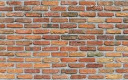 Alte rote Block- und Betonmauerbeschaffenheit Lizenzfreie Stockbilder