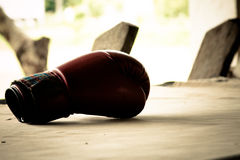 Alte rote Boxhandschuhe Lizenzfreie Stockfotos