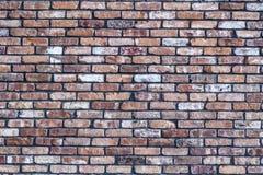 Alte rote Schmutzbacksteinmauer Stockbild