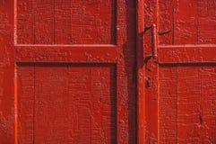 Alte rote Tür Stockfoto