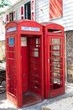 Alte rote Telefonzellen Lizenzfreies Stockbild