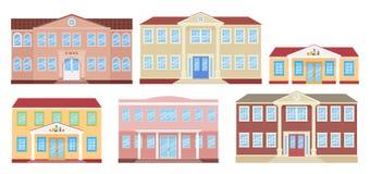 Alte rote Ziegelsteine Auch im corel abgehobenen Betrag Schule, Universität, Kindergarten und College vektor abbildung