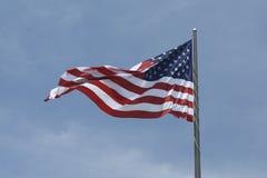 Alte Ruhm-Amerikanische Markierungsfahne Stockfotos