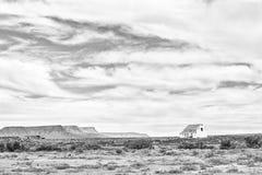Alte Ruine im Tankwa-Karoo einfarbig lizenzfreies stockfoto