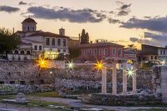 Alte Ruinen in Athen Lizenzfreie Stockbilder