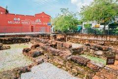 Alte Ruinen Bastion Victoria in Malakka, Malaysia Lizenzfreie Stockfotografie