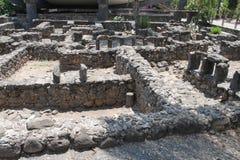 Alte Ruinen bei Capernaum Stockfotos