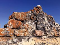 Alte Ruinen bei Castillo Las Aguzaderas, Andalusien, Spanien Stockfoto