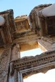 Alte Ruinen Bibliothek Efes Ephesus Celsus in Selcuk, die Türkei Lizenzfreies Stockbild
