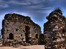 Alte Ruinen Castelmola in Sizilien Stockfoto