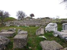 Troja-Archäologie-Standort in der Türkei, alte Ruinen Lizenzfreie Stockfotografie