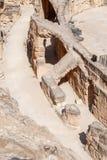 Alte Ruinen des Amphitheaters Stockfotos