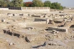 Alte Ruinen des Bahrain-Forts Stockbilder