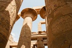 Alte Ruinen des Karnak Tempels in Ägypten Lizenzfreies Stockbild