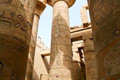 Alte Ruinen des Karnak Tempels in Ägypten Lizenzfreie Stockfotografie
