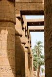 Alte Ruinen des Karnak Tempels in Ägypten Stockfotografie