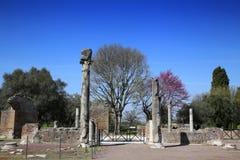 Alte Ruinen des Landhauses Adriana, Tivoli, Italien Lizenzfreies Stockfoto