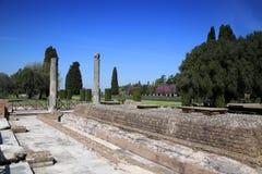Alte Ruinen des Landhauses Adriana, Tivoli, Italien Lizenzfreie Stockfotos