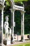 Alte Ruinen des Landhauses Adriana, Tivoli, Italien Lizenzfreie Stockbilder