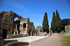 Alte Ruinen des Landhauses Adriana, Tivoli, Italien Stockbild