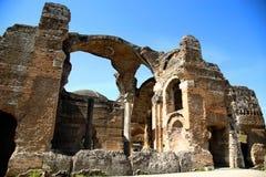 Alte Ruinen des Landhauses Adriana, Tivoli, Italien Lizenzfreie Stockfotografie