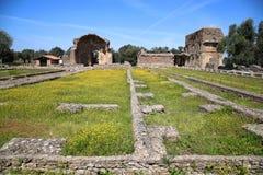 Alte Ruinen des Landhauses Adriana, Tivoli, Italien Stockfoto