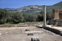 Alte Ruinen des Landhauses Adriana, Tivoli, Italien Stockbilder