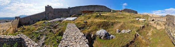 Alte Ruinen des Schlosses in Ohrid, Mazedonien Lizenzfreies Stockfoto