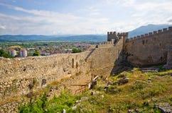 Alte Ruinen des Schlosses in Ohrid, Mazedonien Lizenzfreie Stockfotografie