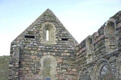 Alte Ruinen, die auf Himmel zeigen Lizenzfreies Stockbild