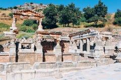 Alte Ruinen Efes Ephesus in Selcuk, die Türkei Lizenzfreie Stockbilder