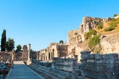 Alte Ruinen Efes Ephesus in Selcuk, die Türkei Stockfotos