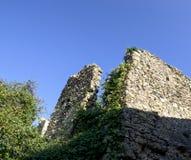 alte Ruinen in einer Wiese Stockfoto