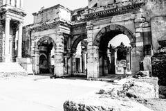 Alte Ruinen in Ephesus die Türkei stockfotografie