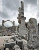 Alte Ruinen in Ephesus, die Türkei Stockbild