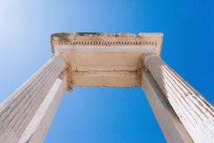 Alte Ruinen in Ephesus die Türkei Lizenzfreie Stockfotos