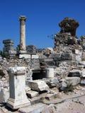 Alte Ruinen in Ephesus, die Türkei Lizenzfreies Stockbild