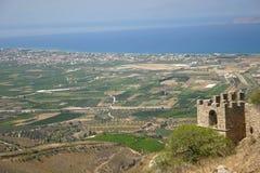 Alte Ruinen in Griechenland, Acro-Korinth Lizenzfreies Stockbild