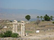 Alte Ruinen in Hierapolis stockfotos