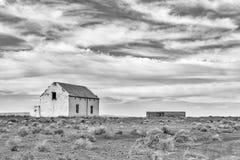 Alte Ruinen im Tankwa-Karoo einfarbig lizenzfreie stockbilder
